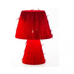 Shoelaces m Pe Table Lamp Red