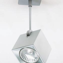Dau Spot Spotlight 1 light with base of Ceiling GU10 Aluminium Anodized