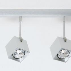 Dau Spot reglette 4 Spotlights GU10 Aluminium Anodized