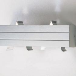 Paral lel Wandleuchte 1 licht Halogen Aluminium Anodized