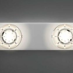 Puns piombo 2 Faretti LED 4w 20cm Cromo