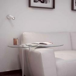 Tub LED Wall Lamp 10,3cm LED 4w 3000K Stainless Steel/Black