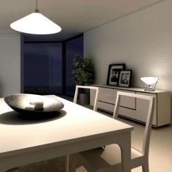 Rimbo Pendant Lamp ø40cm E27 30w Chrome