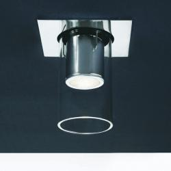 Foco 1L gu5 3 Recessed chromed + opal