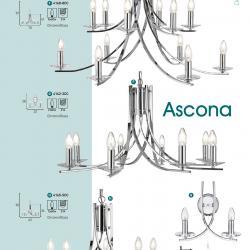 Ascona Lámpara Colgante 12xE14 60w Cromo