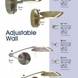 Wall Lamps Ajustables 9850AB Latón