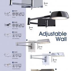 Wall Lamps Ajustables 7665SS Silver