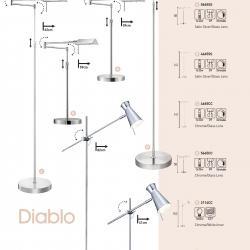 Apothacary lámpara de Pie 1xG9 33w Cromo