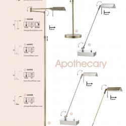 Apothacary lámpara de Pie 1xG9 33w Latón