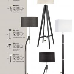 lámpara of Floor Lamp EU8880BR Brown