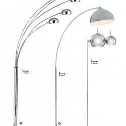 lámpara de Pie EU5022 2CC Cromo