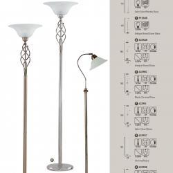lámpara de Pie EU6021AB Latón