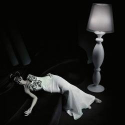 Clasica 60 lámpara de Lampadaire ø60cm Laqué blanc