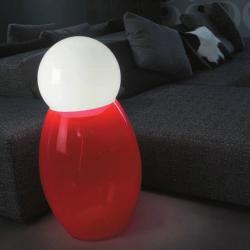 Matrioshka 50 lámpara of Floor Lamp Glass net 96cm white