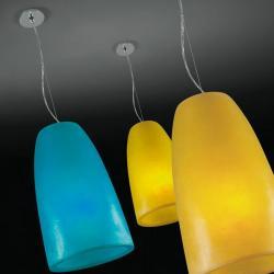 Baccara 1C30 Pendant Lamp Single ø30cm of diameter Yellow