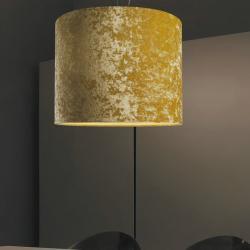 Belinda 1C50 Lámpara Colgante pantalla Terciopelo blanco