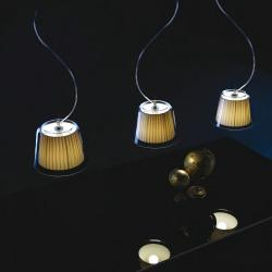 Gretta 3C10 Pendant Lamp triple Aluminium Satin ø25cm silk Beige