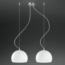 Joe 2C25 Pendant Lamp Doble ø25cm Chrome Shiny Black