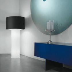 Lopo 60 lámpara of Floor Lamp fabric white ø70cm Lino Tierra