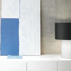Lopo 10 Table Lamp fabric white ø22cm Lino Tierra