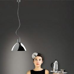 Luna 1C27 Pendant Lamp Single Chrome