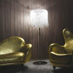 Mossi 50 lámpara of Floor Lamp Chrome Glass of Swarovski