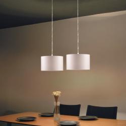 Natali 2C30 Pendant Lamp Doble ø30cm Aluminium Matt mesh white