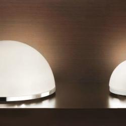 Nemom 10 Table Lamp Chrome ø25cm white opal Mate