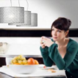 Plamira 2C30 Pendant Lamp Doble Lacquered white ø38cm anthracite