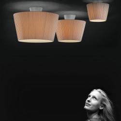 Sara 1C20 ceiling lamp Aluminium Matt ø20cm Cinta silk Beige