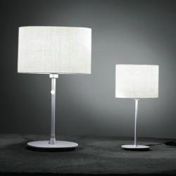 Tao 30 Table Lamp ø30cm Aluminium Matt Rafia white