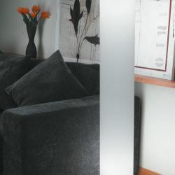 Timy Grande lámpara de Pie Aluminio Satinado ø20cm Malla blanca
