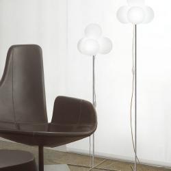 Tybo 50 lámpara of Floor Lamp 124cm Chrome white opal