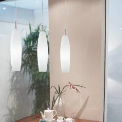 Vanny 1C11 Suspension Chrome ø11cm blanc opale