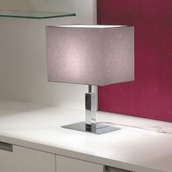 Viena Table Lamp bright chrome fabric Arrugada Grey Oscuro