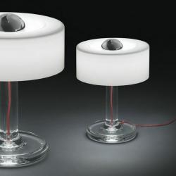 Yoshi 10 Table Lamp Transparent glass ø25cm white opal
