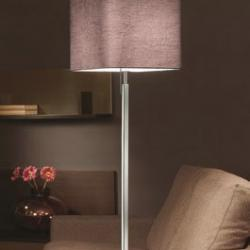 Anaca 60 lámpara of Floor Lamp Chrome wrinkled fabric Grey oscuro