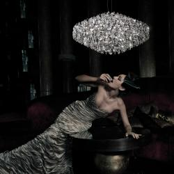 Amanda 1c40 8xG9 33w Swarovski Glass Pendant Lamp