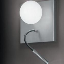 Luccas AP15 Wall Lamp 3W without switch Aluminium Satin