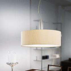 Medusa 1C50 Pendant Lamp Aluminium Satin 55cm ølampshade Plisada Cream