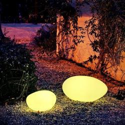 Petra 40 Bola iluminada Exterior batería recargable LED RGB 40x20cm