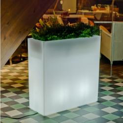 Junco 80 planter iluminado batería recargable LED RGB 80x32x80cm
