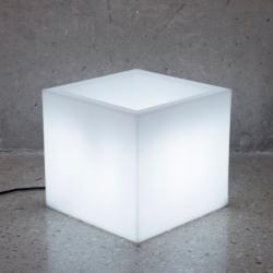 Narciso 40 pflanzer iluminado solar LED RGB 40x40x36cm