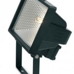 SINTESI R7s 120w 78mm negro c/Lámpara IP54