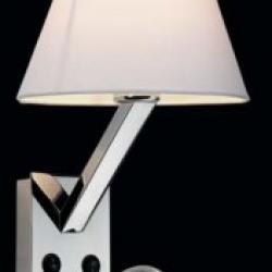 Jazz Aplique E27 max15W + LED 3W Cromo