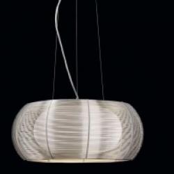 COCOON Lámpara Colgante 2 E27 15W Aluminio