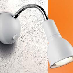 Clip Applique E14 40w R50 Chrome blanc