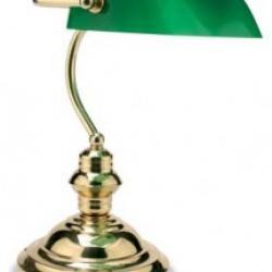 FAR WEST 2 E27 ottone lucido Vidrio Verde