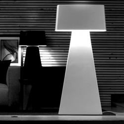 Bag lámpara of Floor Lamp upper 1xE14 60w lower 2 E27 100w white