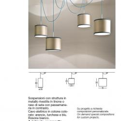 Club House (Estructura) Lámpara Colgante ø20x40cm 1xE27 100w